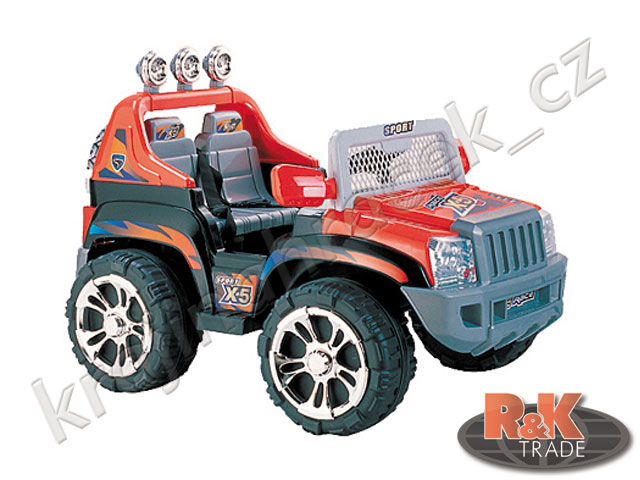 Dětské elektrické auto autíčko JEEP Sport X-5 pro 2 děti