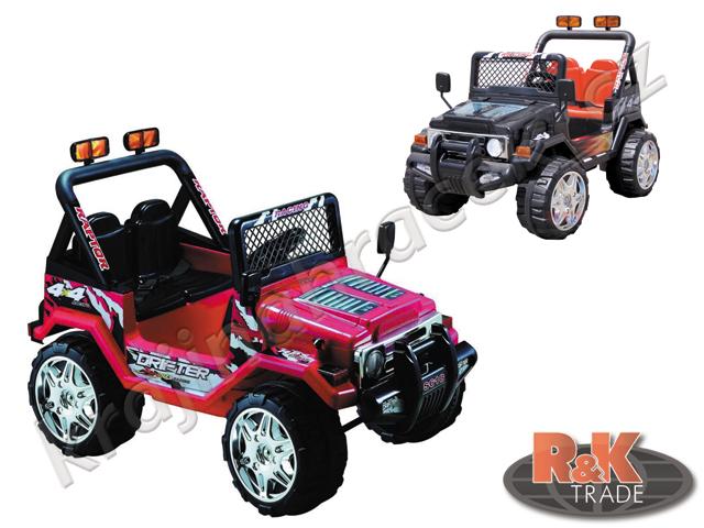 Dětské elektrické autíčko Jeep RAPTOR