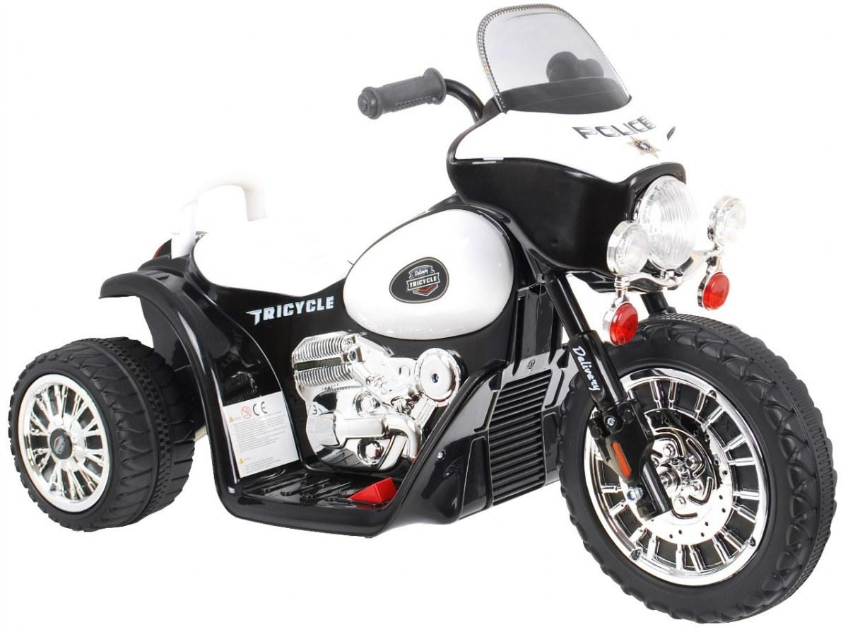 Dětská elektrická policejní tříkolka motorka pro děti