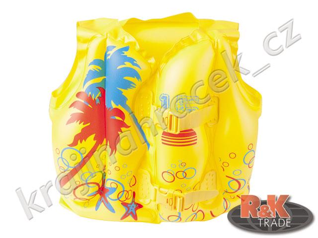Dětská nafukovací plavací vesta na plavání do bazénu vody