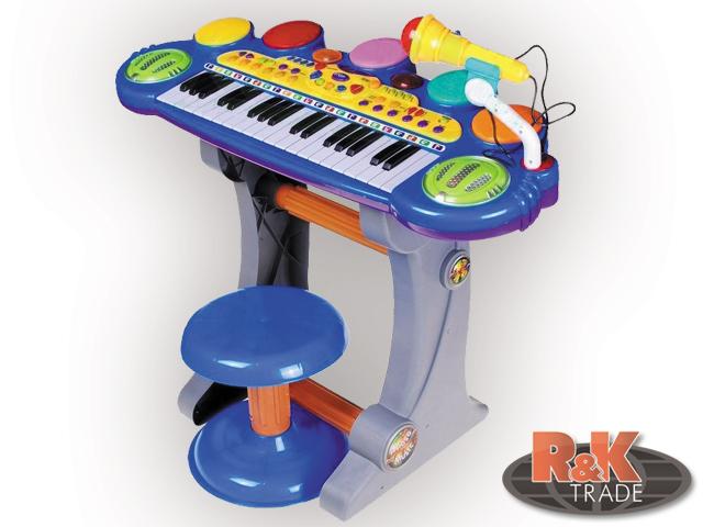 Velké dětské klávesy varhánky piánko + bubny piáno