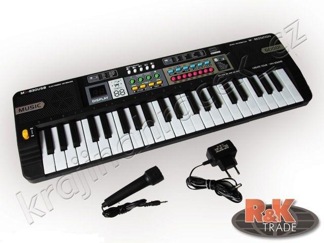 Přenosné klávesy mikrofon keyboard mq830 usb