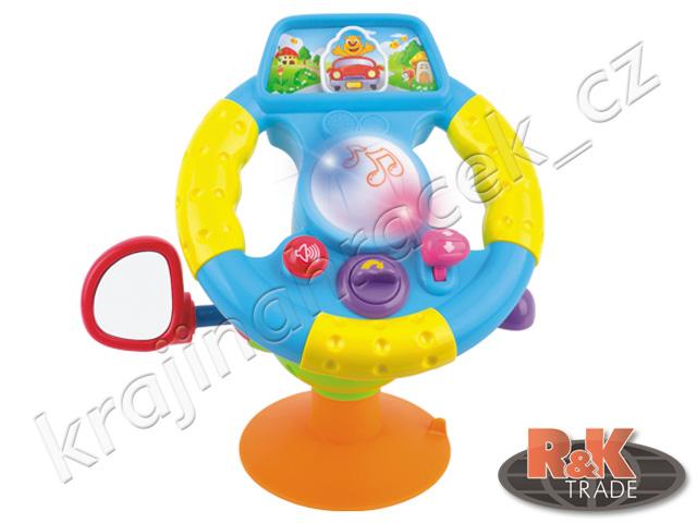 Huile Toys interaktivní dětský volant pro nejmenší auto