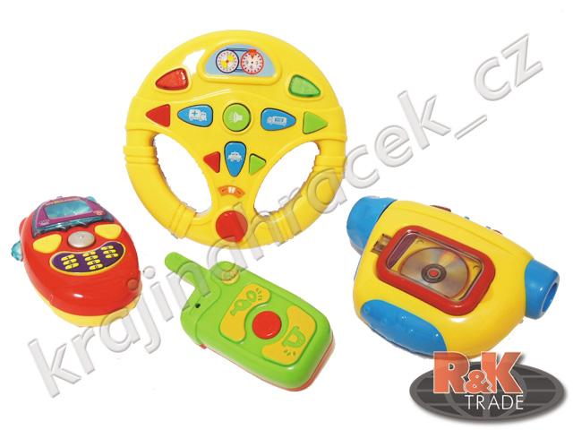 Kamera + volant + mobil + klíčky interaktivní hračky pro nejmenší