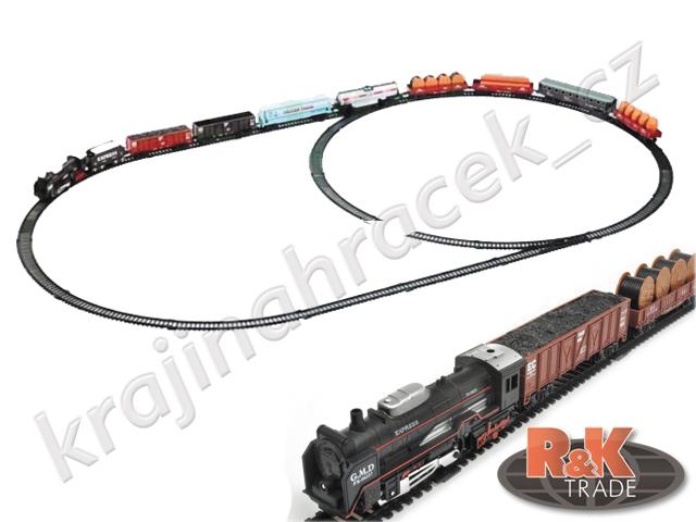 Vlačkodráha vlak na baterie koleje velká sada 9 x vagón