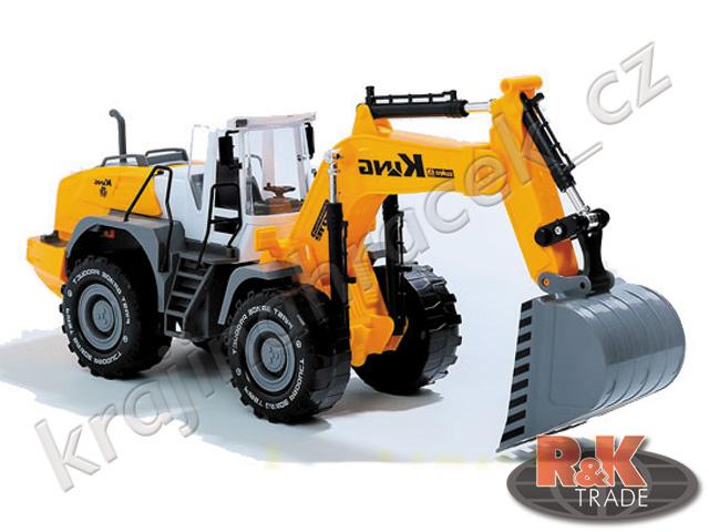 Bagr stavební auto vozidlo stavby