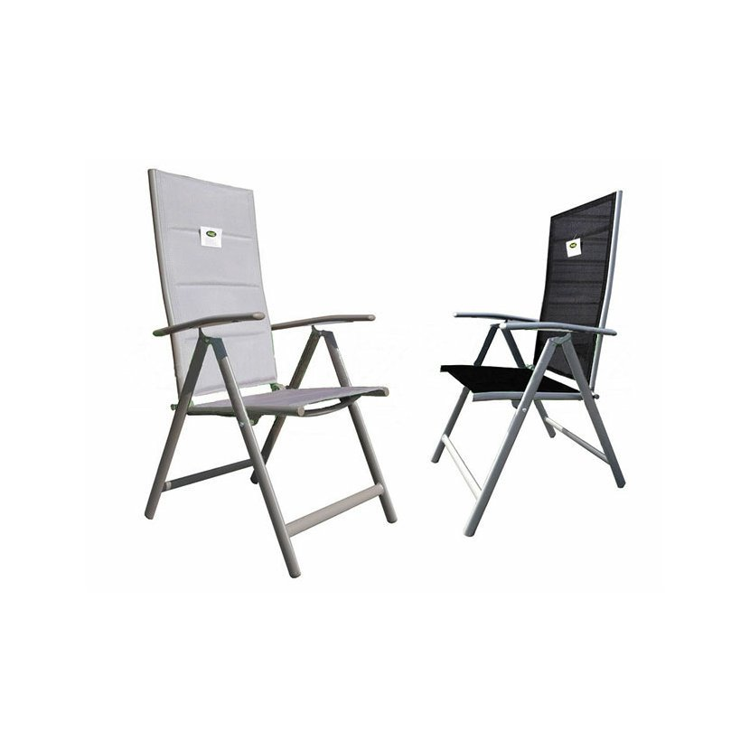 Zahradní skládací regulovatelné prošívané křeslo židle