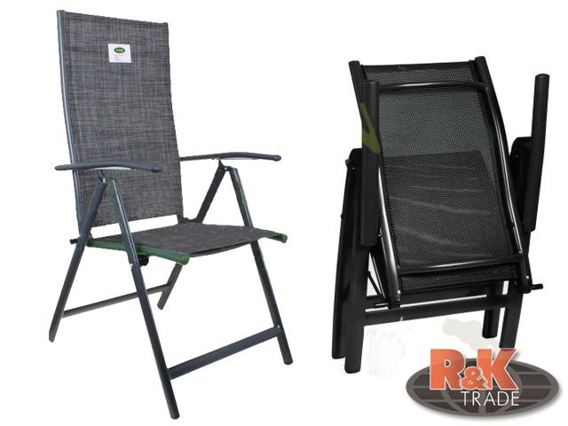 Zahradní skládací luxusní křeslo židle 3 barvy