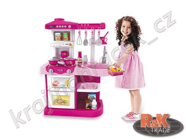 Veliká interaktivní dětská kuchyňka s doplňky