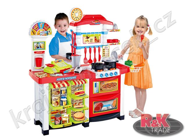 Fast Food dětská kuchyňka + stánek s doplňky