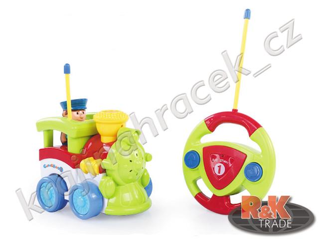 Dětský vláček hračka lokomotiva na dálkové ovládání R/C od 18. měsíců