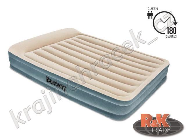 Bestway pohodlné nafukovací lehátko matrace QUEEN 203/152/36 cm 67532