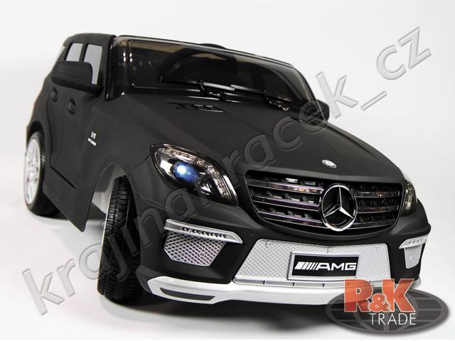 Velké dětské elektrické autíčko auto Mercedes ML63 černý mat