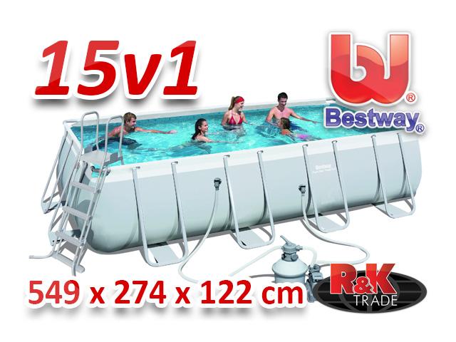 Bestway velký steel bazén 549 x 274 x 122 cm 15 v 1 56466