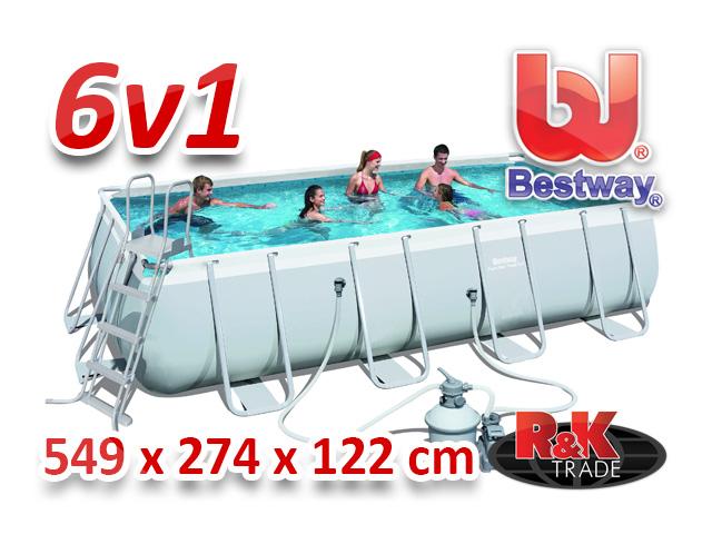 Bestway velký steel bazén 549 x 274 x 122 cm 6 v 1 56466