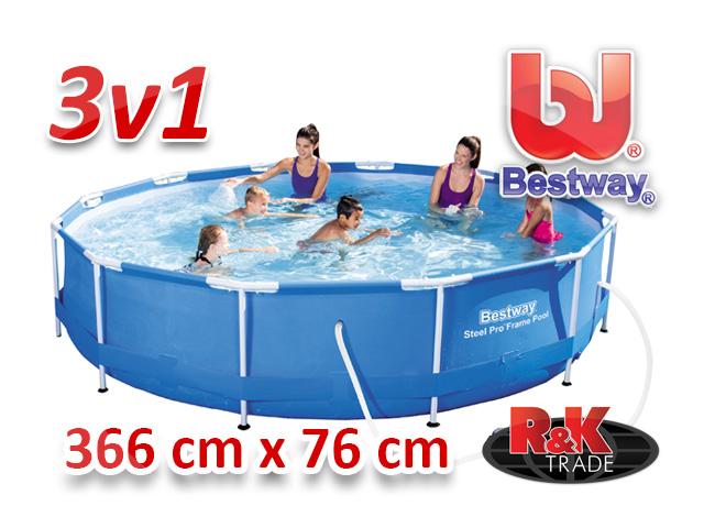 Zahradní bazén bestway 366 x 76 cm 3 v 1 56416