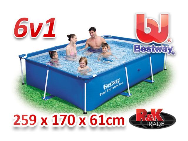 Bestway zahradní bazén 259/170/61 cm 6 v 1 56403