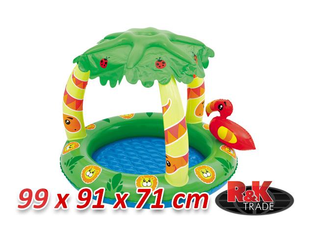 Dětský bazének s papouškem nafukovací bazén + míčky