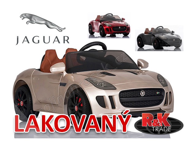 Dětské elektrické autíčko auto jaguar F-TYPE lakovaný