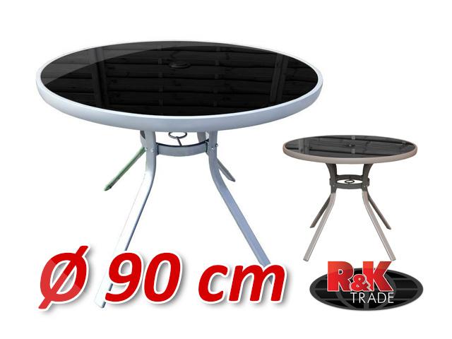 Zahradní kulatý stůl s otvorem pro slunečník