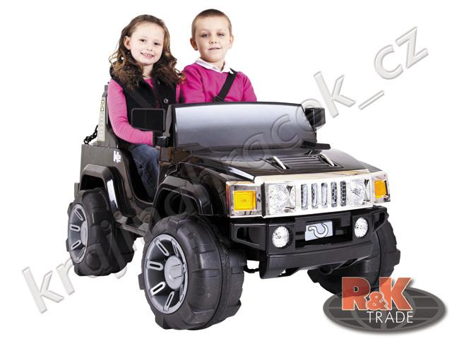 Dětské elektrické autíčko auto Hummer H2 pro 2 děti