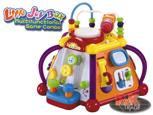 Huile Toys interaktivní multifunkční kostka pro nejmenší od 1 roku multikostka