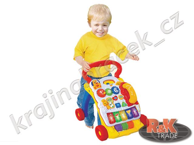 Multifunkční dětské chodítko jezdítko piánko