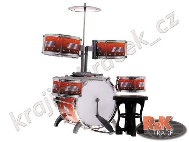 Velká hudební sada bubnů bubny studio 5 bubínků pro děti bubínky + židlička