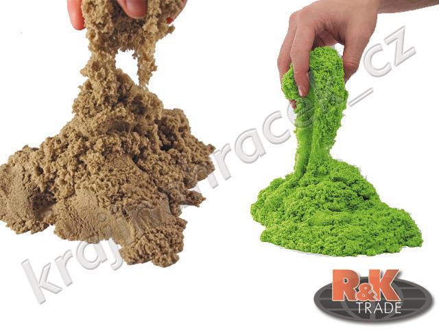 Kinetický tekutý chytrý písek 0,5 kg + formičky