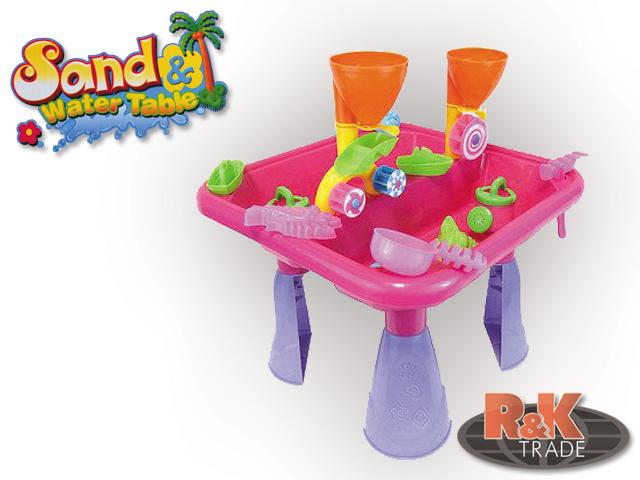 Dětské přenosné pískoviště stoleček + formičky