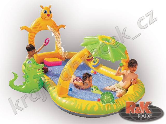 Dětský nafukovací bazének safari 53030