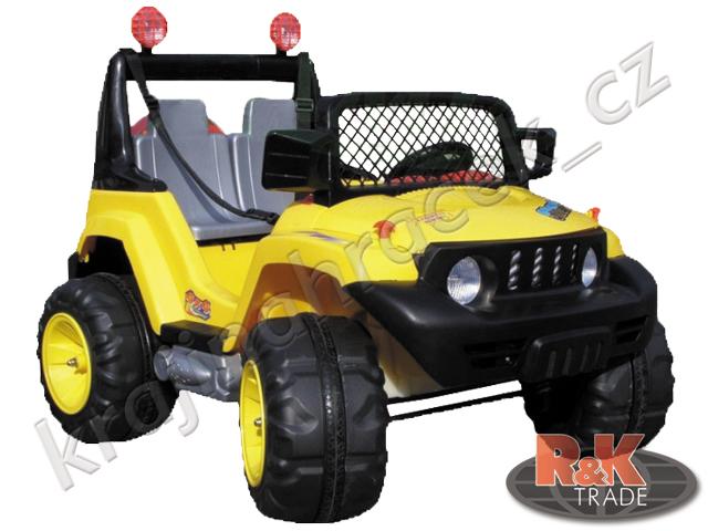 Dětské výkonné elektrické auto Jeep pro 2 děti