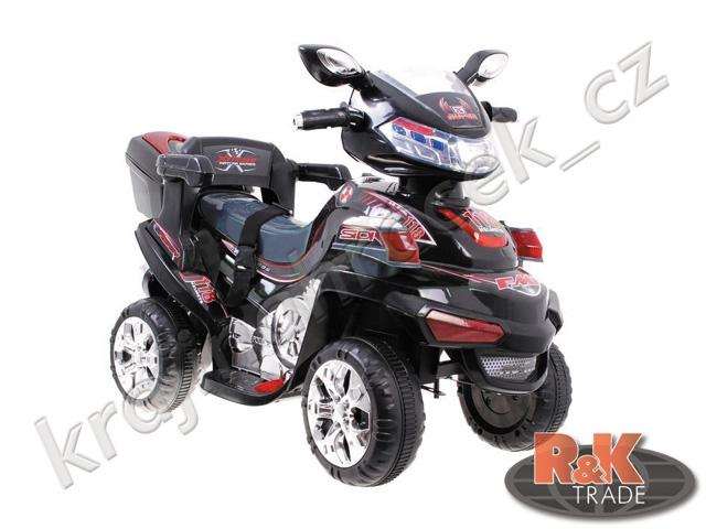 Velká dětská motorka skútr čtyřkolka s bezpečnostními pásy + dálkové ovládání