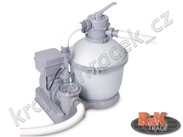 Bestway písková bazénová filtrace čerpadlo a ozonátor 4542l 58286