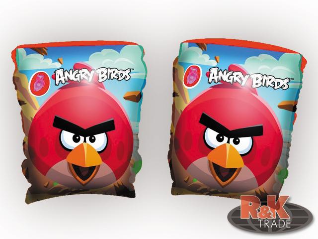Dětské nafukovací rukávky na plavání křidýlka Angry Birds