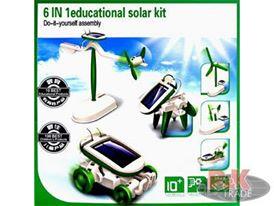 Eko robot KITS hračka solární robot 6 v 1 solarbot