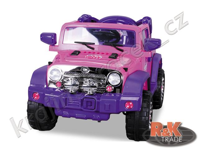 Dětské elektrické autíčko auto terénní Jeep růžový