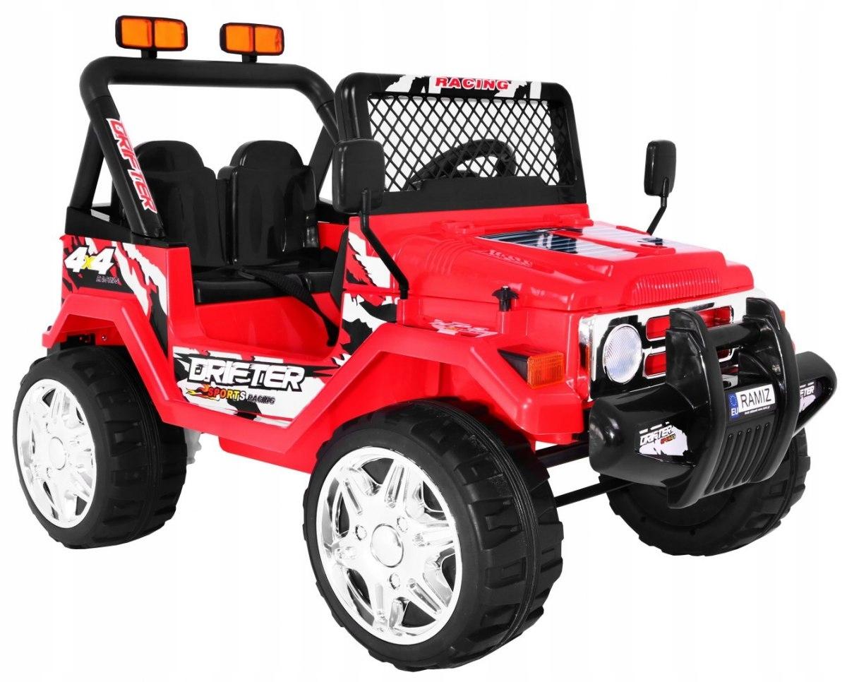 Elektrické auto Jeep RAPTOR - Červená