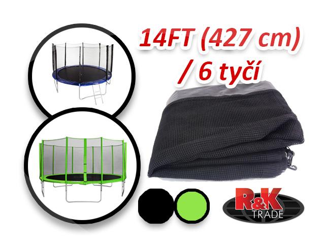 Náhradní síť na trampolínu 427 cm 14´´ 6 tyčí