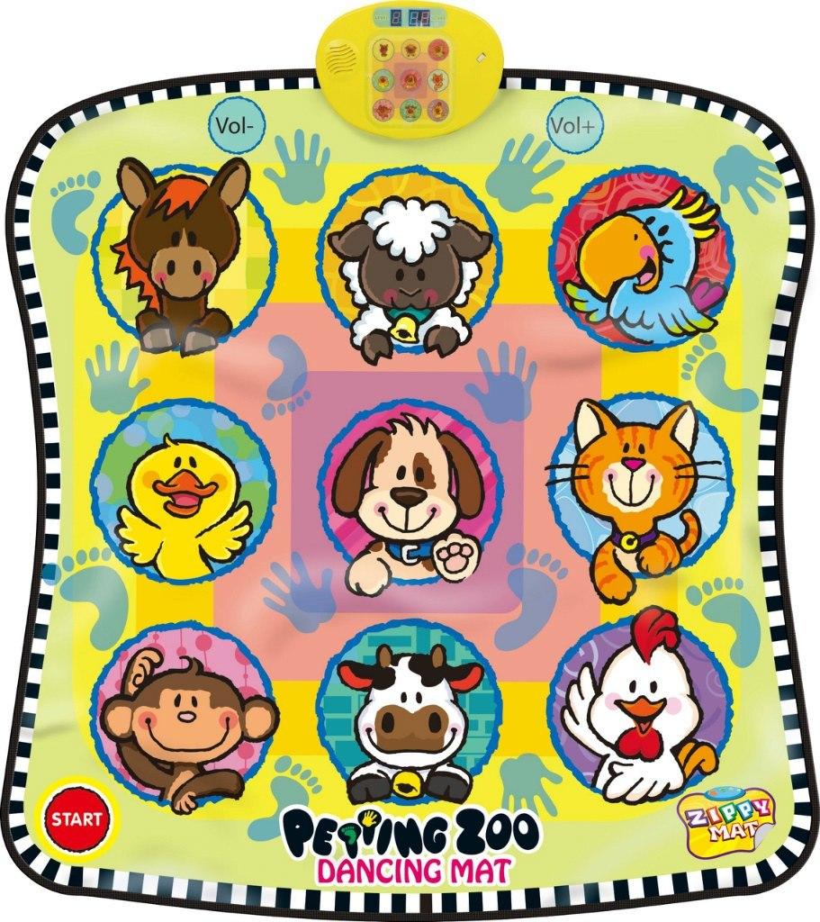 Taneční podložka hra twister dancing mat zoo pro nejmenší děti