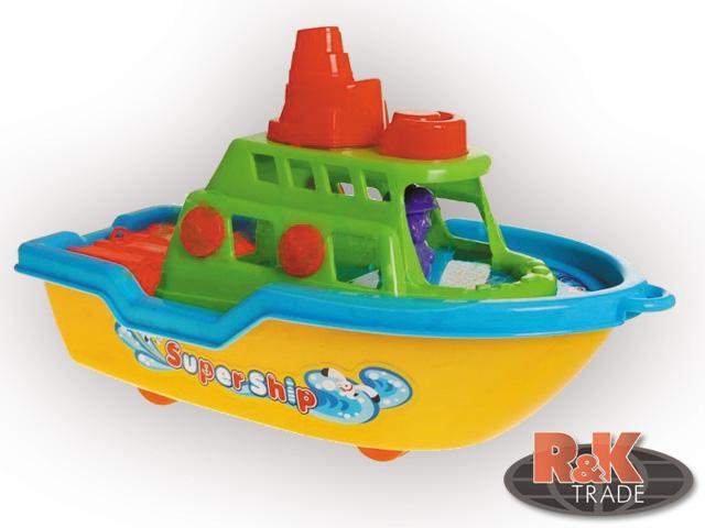 Hračky do vody i na písek pláž loď hrábě formičky