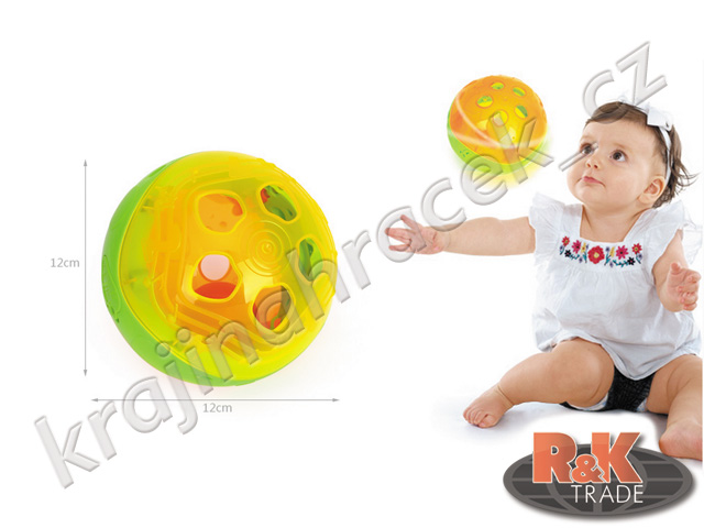 Huile Toys hrající a svítící multifunkční koule pro nejmenší děti