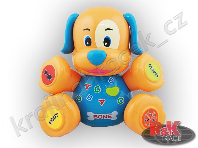 Interaktivní mluvící pejsek štěňátko dětská hračka pes