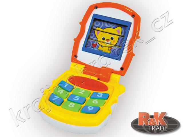 Huile Toys interaktivní dětský zvukový mobil telefon bliká