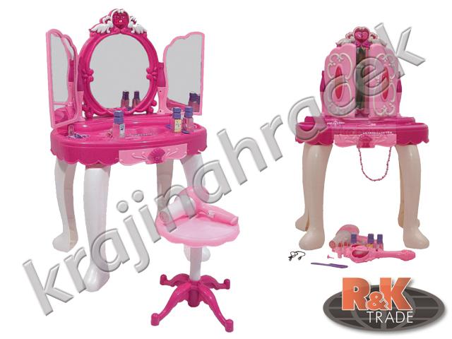 Dívčí toaletní stolek + doplňky stoleček zrcadlo