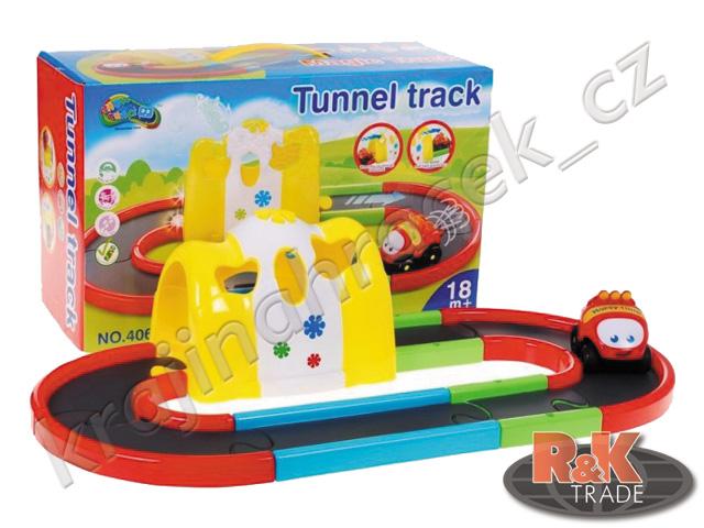 Dráha s kouzelným tunelem + auto pro děti autíčko