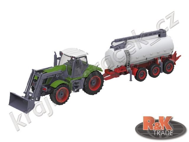 Velký traktor cistérna RC na ovládání 1:28