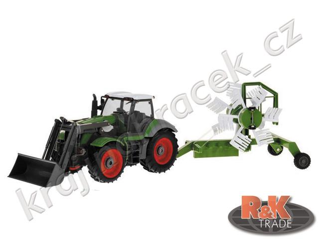 Velký traktor pluh rýt orat RC na ovládání 1:28