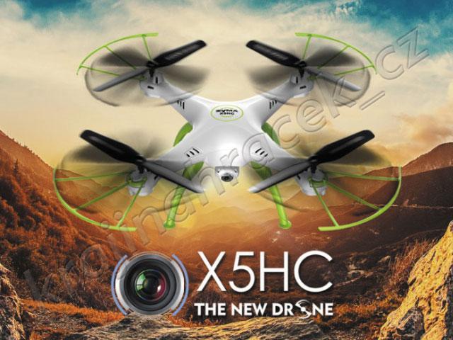 Quadrocopter dron SYMA X5HC 2,4GHz kamera 2MP na dálkové ovládání R/C
