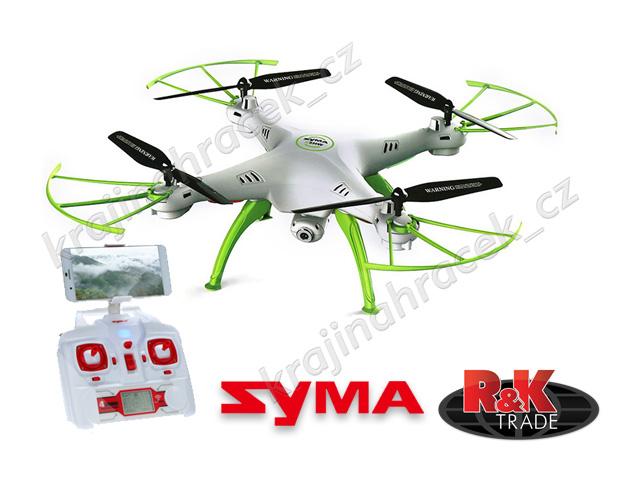 Quadrocopter dron Syma X5HW 2,4GHz kamera Wi-Fi na dálkové ovládání R/C